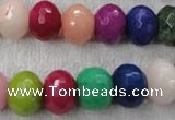 CCN1012 15.5 inches 10*14mm faceted rondelle multi colored candy jade beads