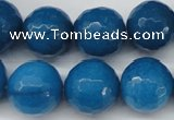 CCN1206 15.5 inches 16mm faceted round candy jade beads wholesale