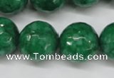 CCN1228 15.5 inches 18mm faceted round candy jade beads wholesale