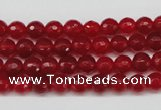 CCN1242 15.5 inches 6mm faceted round candy jade beads wholesale