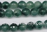 CCN1284 15.5 inches 10mm faceted round rainbow candy jade beads