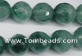 CCN1286 15.5 inches 14mm faceted round rainbow candy jade beads
