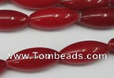 CCN131 15.5 inches 10*25mm rice candy jade beads wholesale
