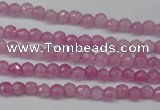 CCN1316 15.5 inches 3mm faceted round candy jade beads wholesale