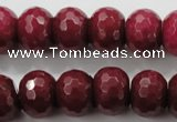 CCN1357 15.5 inches 12*16mm faceted rondelle candy jade beads