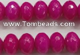 CCN1366 15.5 inches 10*14mm faceted rondelle candy jade beads