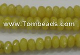CCN1393 15.5 inches 5*8mm faceted rondelle candy jade beads