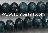 CCN1426 15.5 inches 10*14mm faceted rondelle candy jade beads