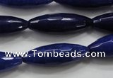 CCN1478 15.5 inches 10*30mm faceted rice candy jade beads wholesale