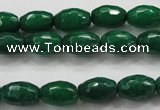 CCN1482 15.5 inches 8*12mm faceted rice candy jade beads wholesale