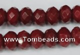 CCN154 15.5 inches 8*12mm faceted rondelle candy jade beads