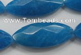CCN1551 15.5 inches 15*40mm faceted marquise candy jade beads