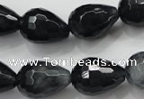 CCN1610 15.5 inches 13*18mm faceted teardrop candy jade beads