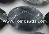 CCN1646 15.5 inches 30*40mm faceted oval candy jade beads