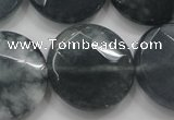 CCN1654 15.5 inches 25mm faceted coin candy jade beads