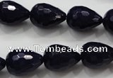 CCN1690 15.5 inches 13*18mm faceted teardrop candy jade beads wholesale