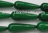 CCN1704 15.5 inches 10*30mm teardrop candy jade beads wholesale