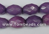 CCN181 15.5 inches 13*18mm faceted rice candy jade beads