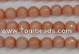 CCN1812 15 inches 8mm faceted round candy jade beads wholesale
