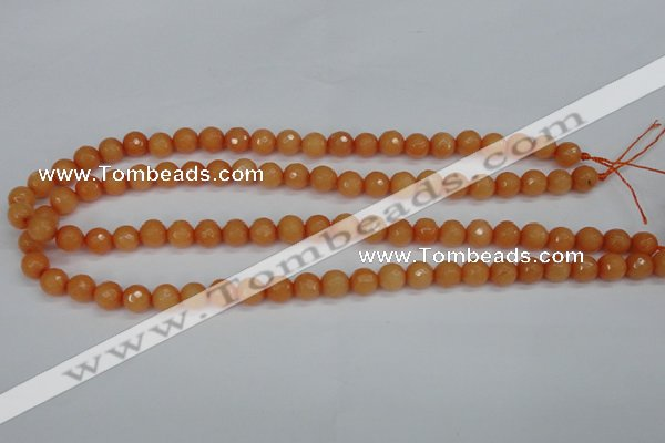 CCN1822 15 inches 8mm faceted round candy jade beads wholesale