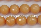 CCN1824 15 inches 12mm faceted round candy jade beads wholesale