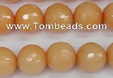CCN1825 15 inches 14mm faceted round candy jade beads wholesale