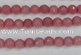 CCN1831 15 inches 6mm faceted round candy jade beads wholesale