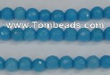 CCN1871 15 inches 6mm faceted round candy jade beads wholesale