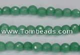 CCN1880 15 inches 4mm faceted round candy jade beads wholesale