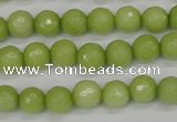 CCN1902 15 inches 8mm faceted round candy jade beads wholesale