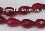 CCN191 15.5 inches 10*14mm faceted teardrop candy jade beads