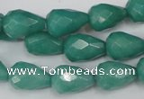 CCN193 15.5 inches 10*14mm faceted teardrop candy jade beads