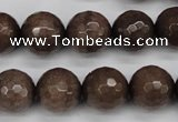 CCN1935 15 inches 14mm faceted round candy jade beads wholesale