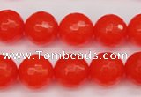 CCN1955 15 inches 14mm faceted round candy jade beads wholesale