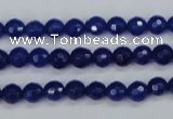 CCN1961 15 inches 6mm faceted round candy jade beads wholesale