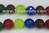 CCN1984 15 inches 12mm faceted round candy jade beads wholesale