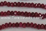 CCN1988 15 inches 3*5mm faceted rondelle candy jade beads wholesale