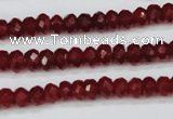 CCN1989 15 inches 4*6mm faceted rondelle candy jade beads wholesale