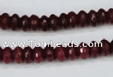 CCN1990 15 inches 5*8mm faceted rondelle candy jade beads wholesale