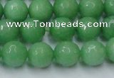 CCN2033 15 inches 12mm faceted round candy jade beads wholesale