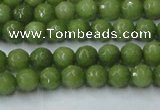 CCN2036 15 inches 4mm faceted round candy jade beads wholesale