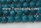 CCN2043 15 inches 4mm faceted round candy jade beads wholesale
