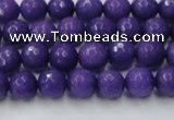 CCN2058 15 inches 6mm faceted round candy jade beads wholesale