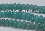 CCN2101 15.5 inches 5*8mm faceted rondelle candy jade beads