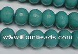 CCN2103 15.5 inches 8*12mm faceted rondelle candy jade beads