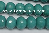 CCN2104 15.5 inches 10*14mm faceted rondelle candy jade beads