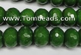 CCN2110 15.5 inches 10*14mm faceted rondelle candy jade beads