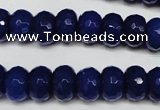 CCN2121 15.5 inches 8*12mm faceted rondelle candy jade beads