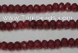 CCN2125 15.5 inches 4*6mm faceted rondelle candy jade beads