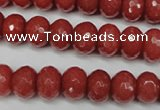 CCN2128 15.5 inches 8*12mm faceted rondelle candy jade beads